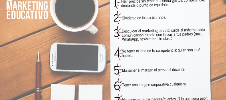 8 errores en marketing educativo